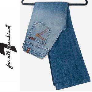 7 FAM Dojo Wide Leg Flare Jeans EUC